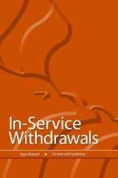 In-Service Withdrawals