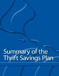 Summary of the Thrift Savings Plan