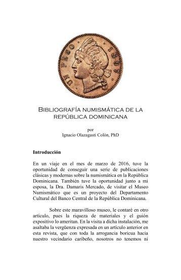 Bibliografia Numismatica Dominicana
