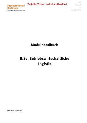 Modulhandbuch B.Sc. Betriebswirtschaftliche Logistik