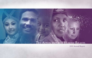 2010 Annual Report - The Advocates for Human Rights