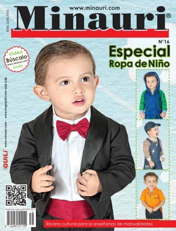 Minauri Nº 16 Ropa Niño -Boy's (Kids`s) Clothes ( Pattern Magazine )