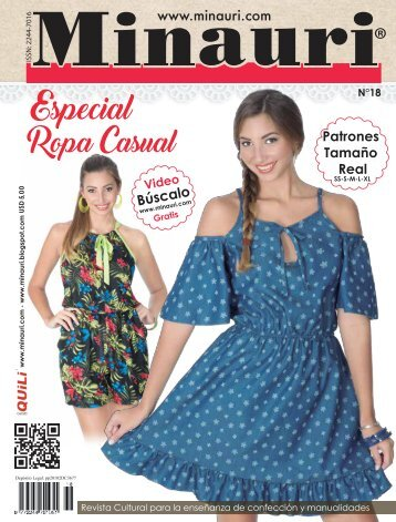 Minauri Nº 18 Ropa Dama - Casual - Women Clothing ( Pattern Magazine )