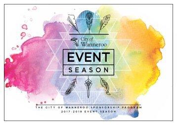 CoW Event Season Sponsorship Pack 2017-2018