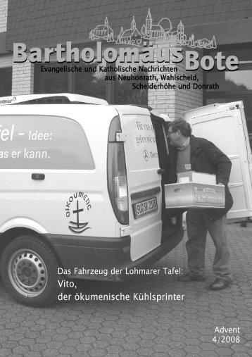 Vito, der ökumenische Kühlsprinter - Evangelischen ...