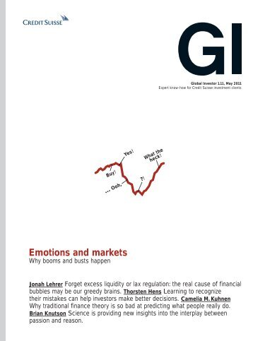 Emotions and markets