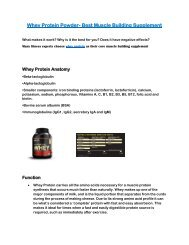 Whey Protein is the Best Muscle Supplement for You