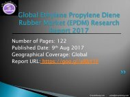Ethylene Propylene Diene Rubber (EPDM) Market by Manufacturers, Countries, Type and Application, Forecast to 2