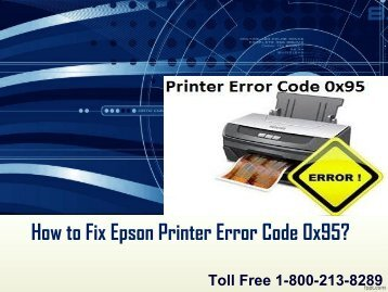 5 How to Fix Epson Printer Error Code 0x95
