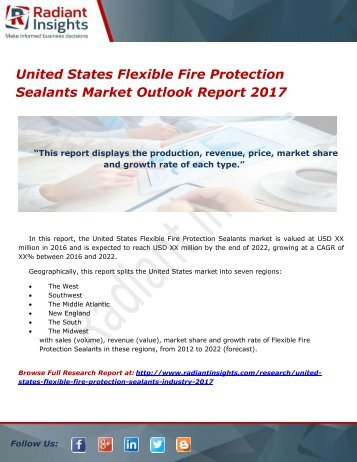 United States Flexible Fire Protection Sealants Market Outlook Report 2017