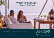 CONSTANCE Wedding Packages - Public-Rates | 2018