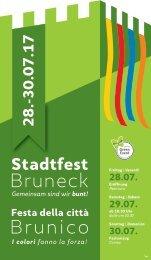Stadtfest Bruneck - Neues Erscheinungsbild