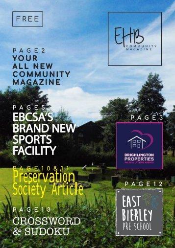 EHB COMMUNITY MAGAZINE - ISSUE 1