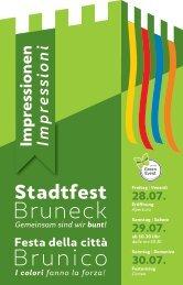 Sponsorenbroschüre Stadtfest-Bruneck