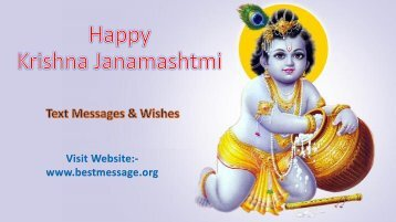 Best Wishes and Messages for Happy Krishna Janmashtami 2017