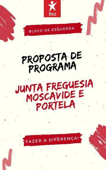 Programa Bloco de Esquerda para Junta de Freguesia de Moscavide e Portela