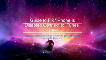 How to Fix iPhone Is Disabled Connect to iTunes Issue