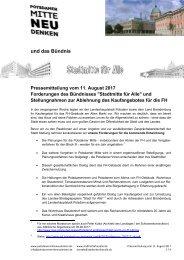 Pressemitteilung zur Ablehnung des Kaufangebotes 11,08,17