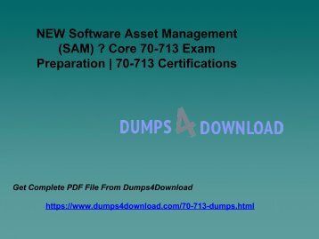 Microsoft 70-713 Exam Study Guide - 70-713 Exam Braindumps Dumps4download