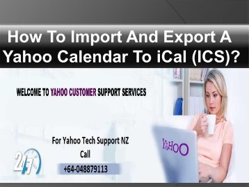 How To Import And Export A Yahoo Calendar To iCal (ICS)