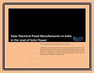 Solar Electrical Panel Manufacturers in India in the Lead of Solar Power