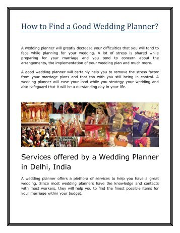 How To Find A Good Wedding Planner Tbrbinfo