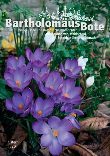 BartholomäusBote Nr. 1/2011 - Evangelischen Kirchengemeinde ...