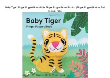 Baby Elephant Finger Puppet Book Little Finger Puppet ...