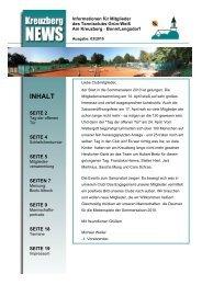 INHALT - Tennisclubs Grün Weiß Am Kreuzberg