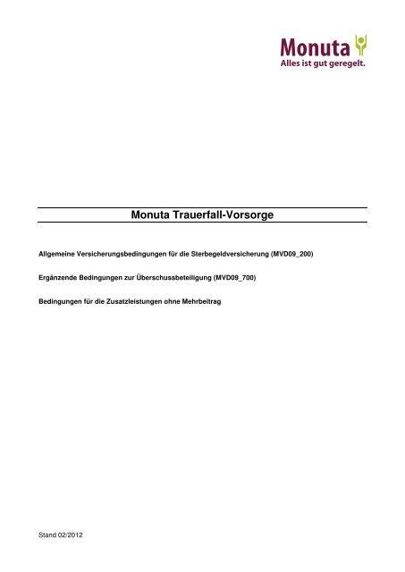 Monuta versicherungen