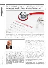 Patientenverfügung und Vorsorgevollmacht ... - Monuta.de