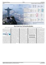 Die Kraft der Schwellenländer - Rune Finanz GmbH