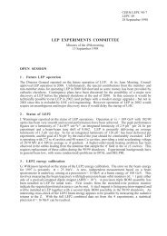 LEP EXPERIMENTS COMMITTEE - CERN Document Server