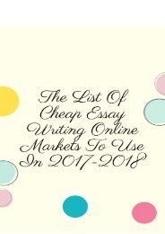 The List of Cheap Essay Writing Online Markets to Use in 2017-2018