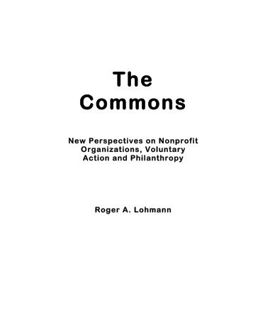 Commons New Perspectives - Digital Library Of The Commons ...