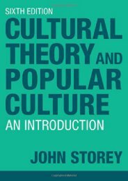 Cultural Theory and Popular Culture: An Introduction
