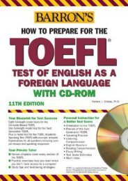 How to prepare for the TOEFL (Barron s TOEFL IBT (W/CD))