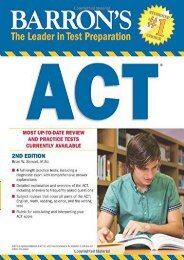 Barron s ACT (Barron s Act (Book Only))