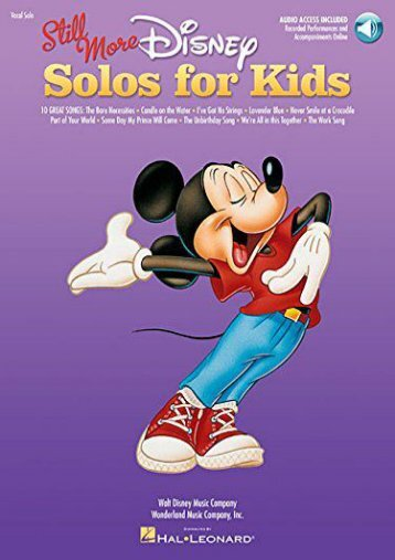 Still More Disney Solos For Kids Voice Book/Cd