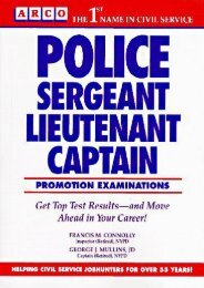 Police Sergeant, Lieutenant, Captain