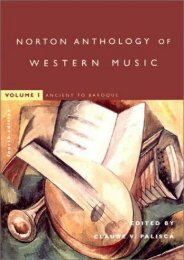 The Norton Anthology of Western Music: Ancient to Baroque v. 1