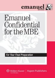Emanuel Confidential for the MBE (Emanuel Bar Review)