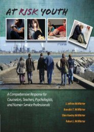 At Risk Youth (Psy 663 Child and Adolescent Personality Assessment and Inte)