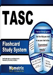 Tasc Flashcard Study System: Tasc Test Practice Questions and Exam Review for the Test Assessing Secondary Completion