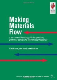 Making Materials Flow: Volume 1.1: A Lean Material-handling Guide for Operations, Production-control, and Engineering Professionals