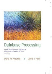 Database Processing: Fundamentals, Design, and Implementation (Prentice-Hall Adult Education)