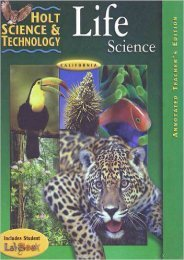 Holt Science   Technology: California Life Science
