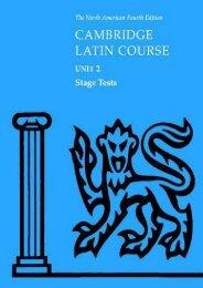 North American Cambridge Latin Course Unit 2 Stage Tests