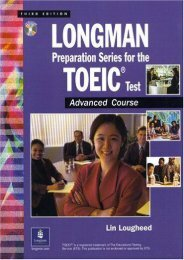 Longman Preparation Series for the TOEIC Test: Advanced Course, with Answer Key and Tapescript