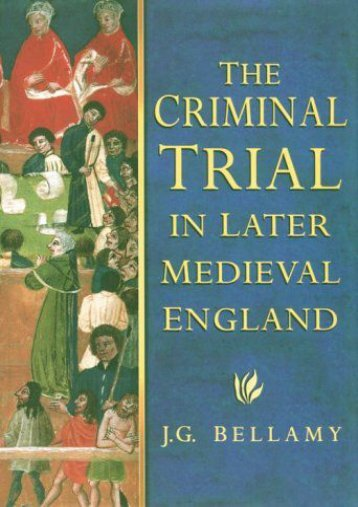 Criminal Trial in Later Medieval England